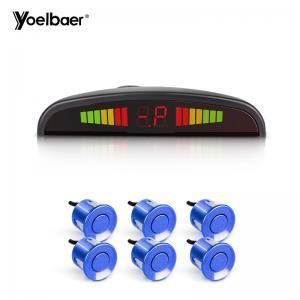 Quality HD Monitor 12V Car Reverse Sensor Set 6 Waterproof Sensors Easy Installation for sale