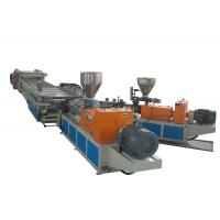 Quality Auto Compact Plastic Extrusion Line Two Conical Screw Extruders For WPC Foamed Sheet for sale
