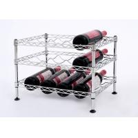 Quality Mini Wine Rack Metal Display Shelf Carbon Steel Material Size: 45*30*32CM for sale