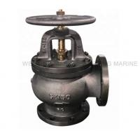 Quality High Accuracy JIS Cast Iron Marine Angle Valve F7306 5K With Handle Wheel for sale