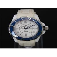 Quality Silicone Sport Leisure New Wrist Watch , Sport Ceramic Watch With 3 ATM Water Resistant for sale