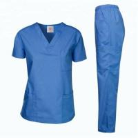 China V-neck  Medical Scrub with soft  stretch fabric , poly tencel fabric  Tencel cotton , poly cotton on sale