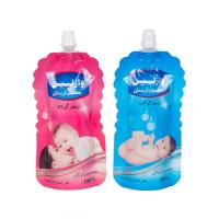 Quality custom design shaped liquid pouches doypack spout bag packaging for body lotion for sale