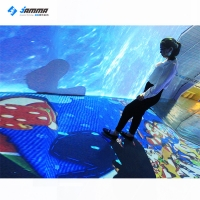Quality AR Interactive Game Interactive Floor Projection 1.85X2.5M 21pcs Cartoon Games for sale
