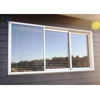 Quality Double Glazed Glass Aluminium Three Track Sliding Window With Mosquito Net / Blinds for sale