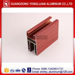 China Aluminium window extrusion profile wooden color,aluminum profile supplier on sale