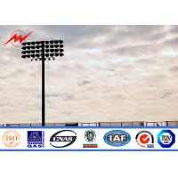 Quality 30m painting stadium high mast pole airport lighting with winch for sale