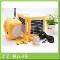 Buy cheap High capacity quality rechargeable LED solar lantern with bulbs for emergency from wholesalers