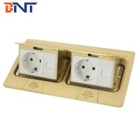 Quality Copper alloy material double network interface double pop up floor socket for sale