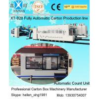 Quality Fully Automatic Inline Flexo Carton Box Printer Slotter Die Cutter with Folder Gluer Bundler for sale