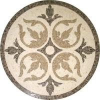 Quality Solid Surface Marble Medallion Floor Tile , Decorative Custom Floor Medallions for sale