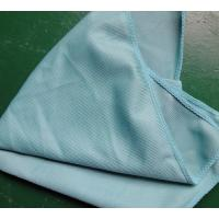 Quality 40 * 40cm 260gsm Microfiber Glass Cleaning Cloth Green Thick Fashinable Soft for sale