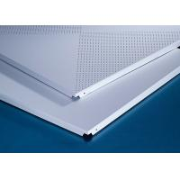 Quality Perforated 600x600MM Clipped Ceiling Demountable Anti Magnetic Sterile for sale