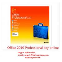 Quality Office 2010 Professional Microsoft Office Product Key Codes Permanent , Activation Online for sale