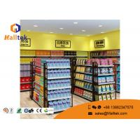 Quality Cold - Rolled Steel Supermarket Gondola Shelving Easy Assemble Light Duty Type for sale