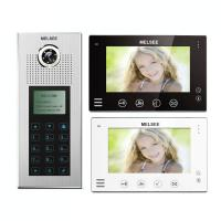 China 36 apartments intercom systems with video, codes&id card access name list operation on sale