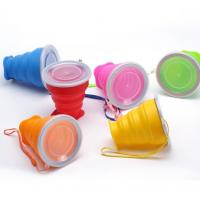 Quality Portable Food Grade Silicone collapsible travelling usage foldable cup for sale