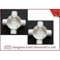 China White GI 4 Way Electrical Junction Box PVC Conduit and Fittings BS4662 Standard on sale
