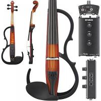 Yamaha sv250 silent electric brown 4 string violin japan for Yamaha svc 110sk silent electric cello brown