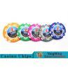 High Precision Casino Poker Chip Set / Poker Table Set For Gambling Games for sale