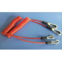 Buy cheap Safety orange lanyard spring coil with heavy duty snap hooks for attaching valuable items from Wholesalers