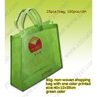 Quality Cheap China Nonwoven Shopping Bag in Green for sale