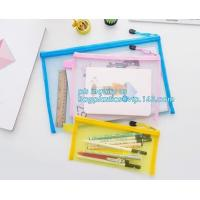 Quality stationery within mesh PVC waterproof zipper document bag/ pvc folder, pp plastic file folder printable document bag for sale