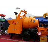 Quality Mobile Diesel Portable Hydraulic Trailer Mounted Concrete Mixing Pump With Mixer for sale