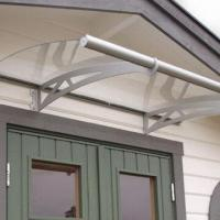 Door Canopy With Unbreakable Polycarbonate Filling And