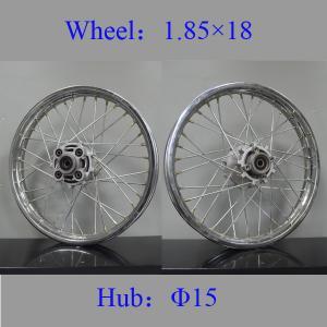 China REAR Spoked Motorcycle Wheels Colorful Steel Custom Spoke Motorcycle Wheels on sale