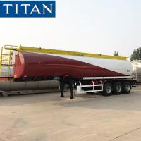 China 40000 liters 45000 liters fuel tanker trailer with single tire for sale on sale