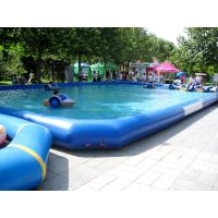 Quality Large Outerside Metal Frame PVC Inflatable Swimming Pools , Durable and Portable for sale