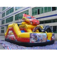 Quality inflatable 0.55mm pvc tarpaulin hot sell funny car slide for sale