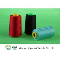 Quality Dyed 100 Spun Polyester Sewing Thread With Plastic / Paper Cone Wear Comfortable for sale
