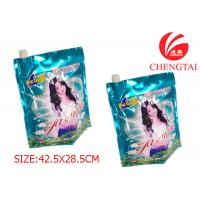 Quality Rotogravure Printing Packaigng Stand Up Pouch with Spout for Detergent for sale