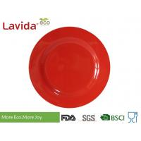 Quality Solid Color Melamine Plates Bowls With Rim Dishwasher Safe Heat Resistance Non - Toxic for sale