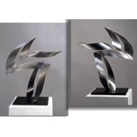 Quality Customized Modern Stainless Steel Art Sculptures Indoor Decorative Brushed Finishing for sale