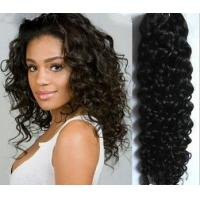 China Beautiful Remy Inidian Human Hair Kinky Curl Hair Extension For Women on sale