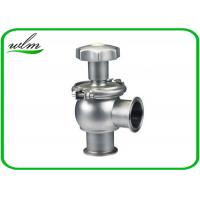 China Hygienic Sanitary Manual Flow Regulating Valve Butt Weld / Tri Clamp Connection Ends on sale