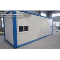 Quality Waterproof Steel Blue and White Prefab Container House with EPS Sandwich Panel for sale