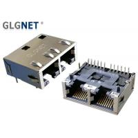 Quality 1 Rows Rj45 Multi Connector Tab / Latch Down1G RJ45 1x2 Support PIP Mounting for sale
