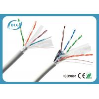 Quality 100% Copper Conductor FTP Cat6 Lan Cable 4 Pairs Low Resistance Data Transmission Cabling for sale