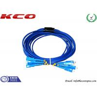 Quality SC to SC Fiber Optic Patch Cord Rodent Proof Armoured Cord Jumper for sale