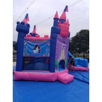 China Pink Princess Girl Inflatable Bounce House Combo Double Stitching 4Mx 4M X 4M on sale
