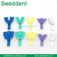 Quality Dental Colorful Plastic Impression Tray for sale