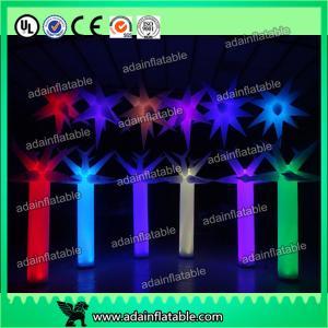 Quality 300cm LED Inflatable Pillar Lighting Decoration, Inflatable Light Column,Inflatable Star for sale