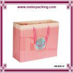 Quality Pink Gift Paper Bag/Environmental foldable shopping bag/ Custom paper garment bags ME-BG018 for sale