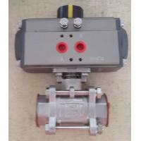 Quality Stainless Steel Sanitary Ball Valve with 90° Pneumatic Actuator for sale