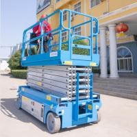Buy cheap Raised Self Propelled Hydraulic Scissor Lift 6-14m working height from wholesalers