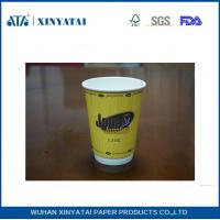 Quality Fruit Juice / Beverage Custom Paper Coffee Cups , Takeaway Coffee Cups for Hot Drinks for sale